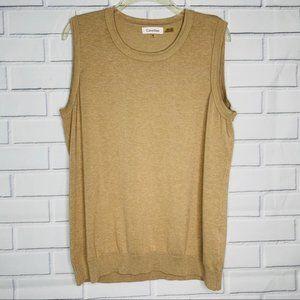 Calvin Klein sweater tank top size XL beige